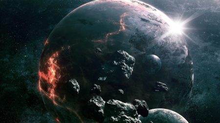 asteroids, planets, collision