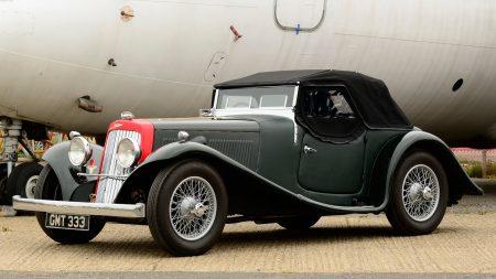 aston martin, 1937, black