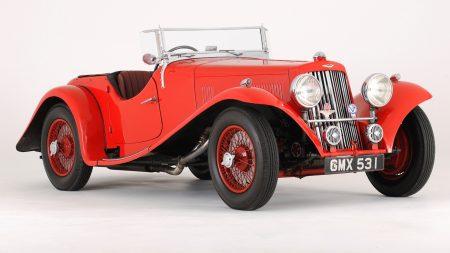 aston martin, 1937, red