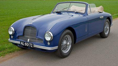 aston martin, 1951, blue