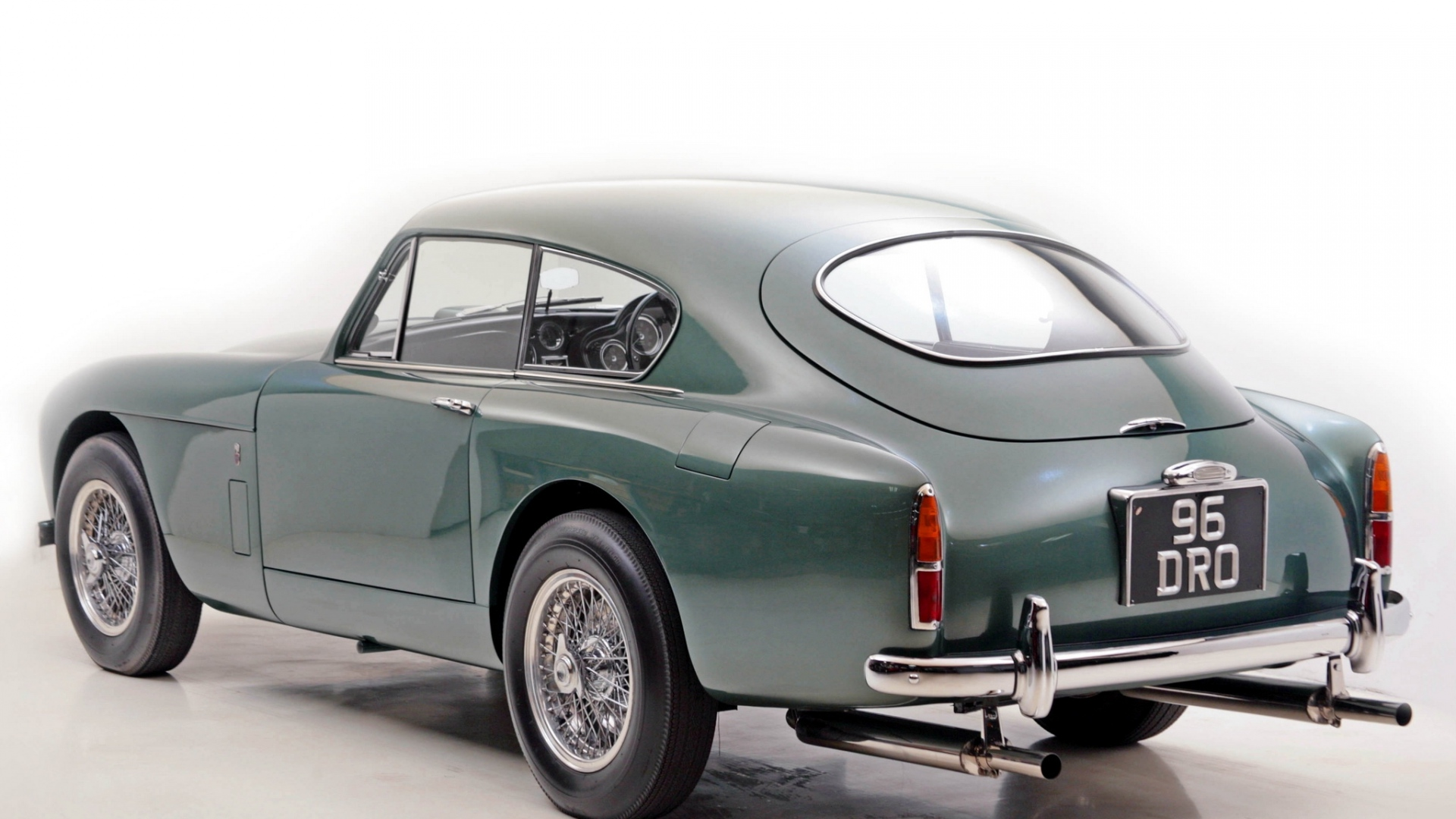 Download Wallpaper 1920x1080 Aston Martin 1958 Green Side View Images, Photos, Reviews