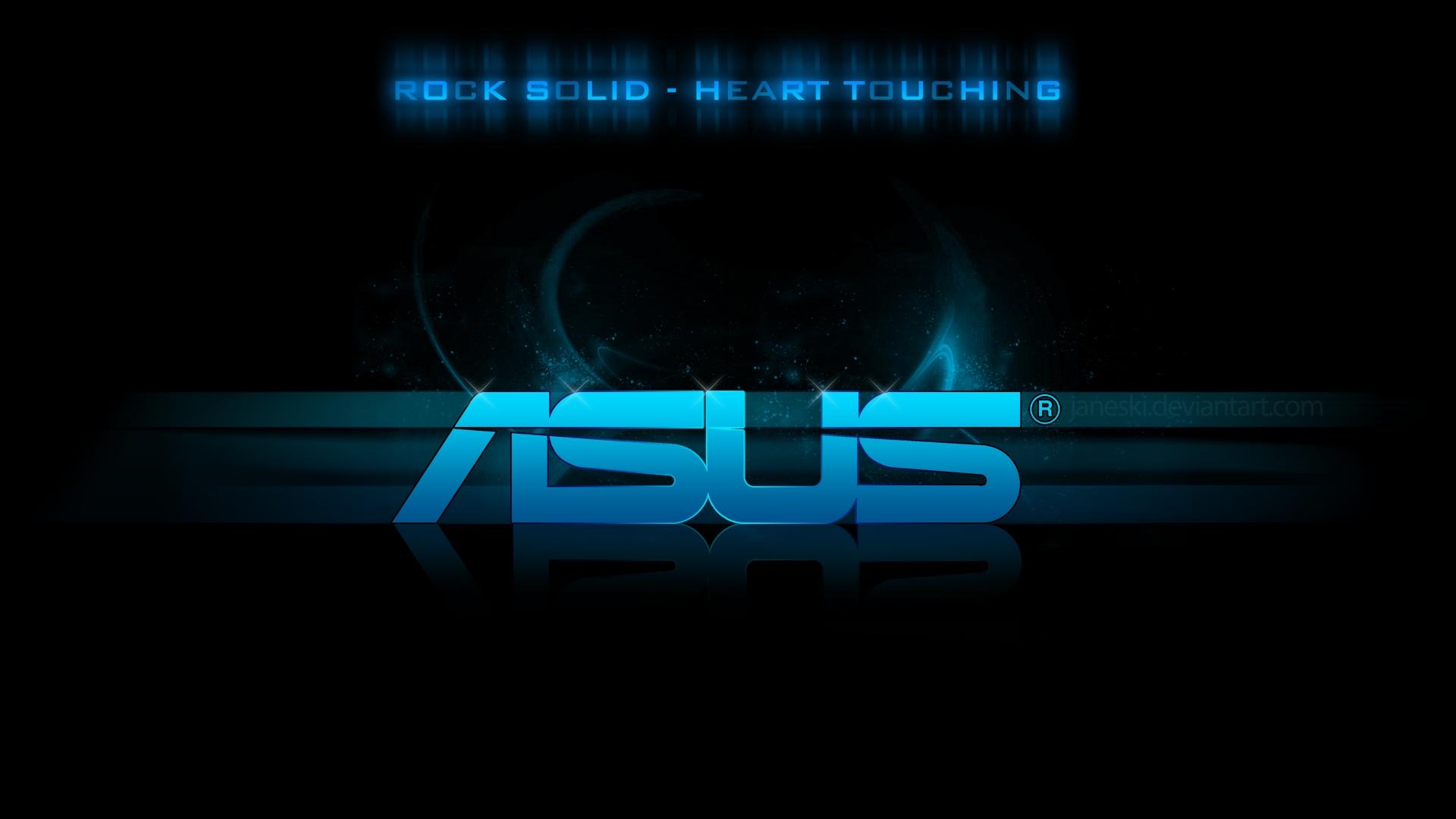 Download Wallpaper 1920x1080 Asus Logo Blue Black Full Hd 1080p
