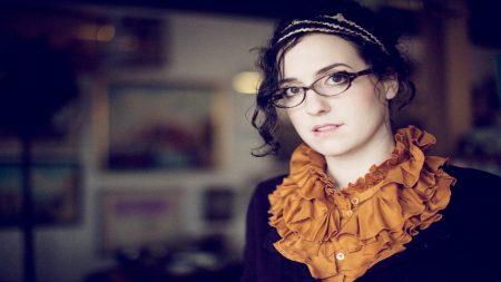audrey assad, glasses, girl