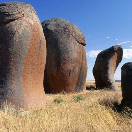 australia, stones, field