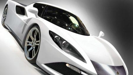 auto, car, white
