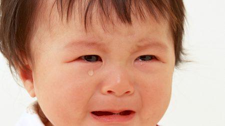 baby, face, tears