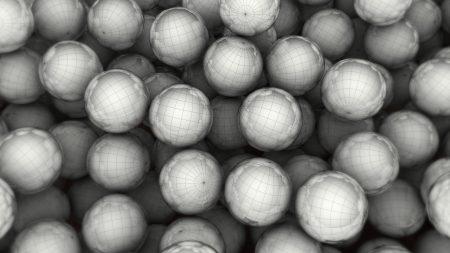 ball, black, line