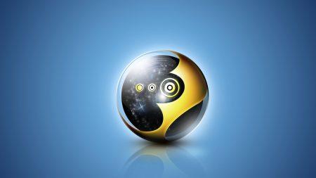 ball, black, yellow