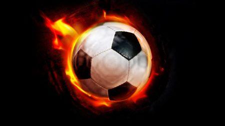 ball, football, fire