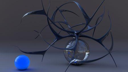 ball, glass, background