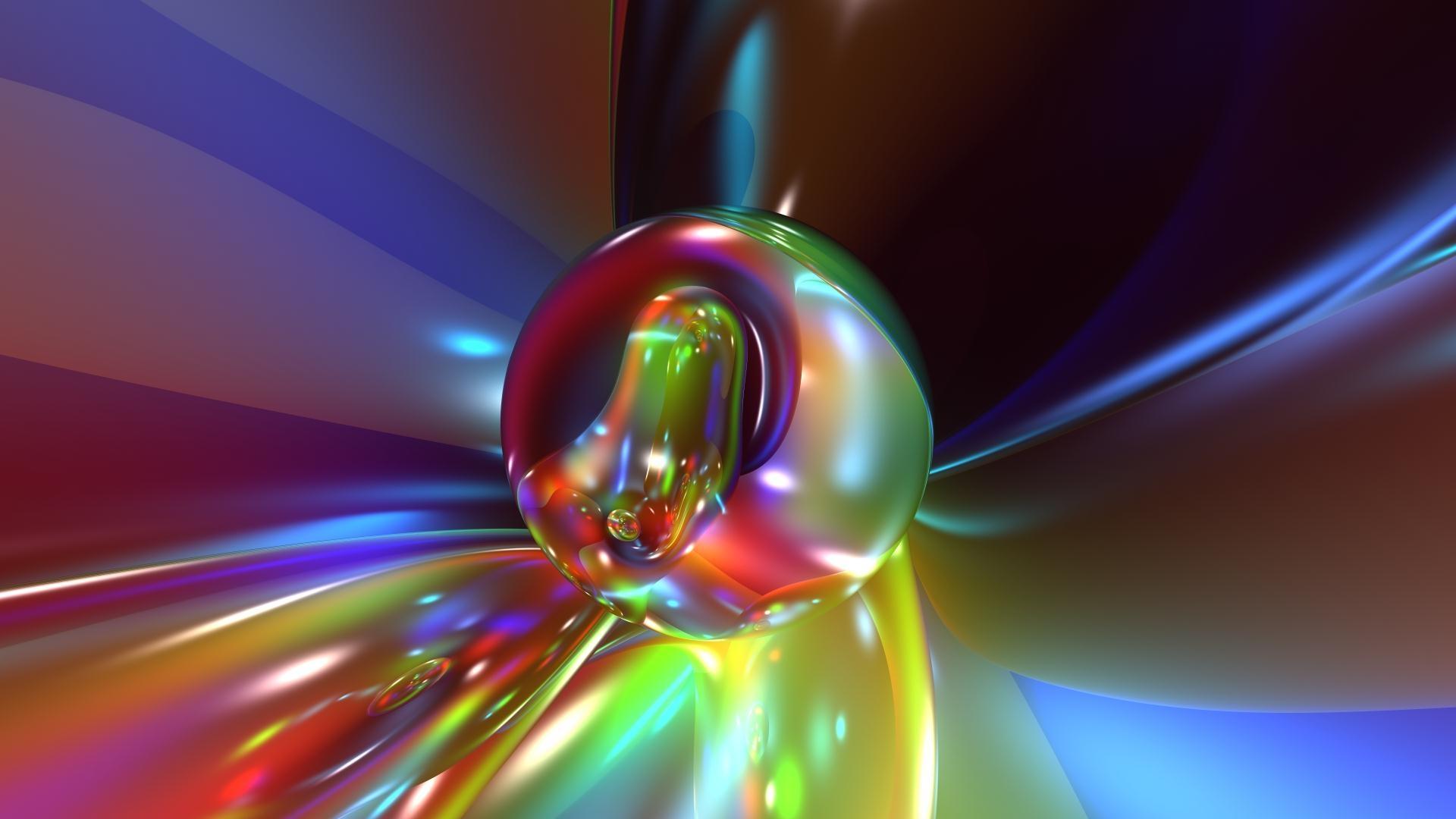 ball, glass, bright
