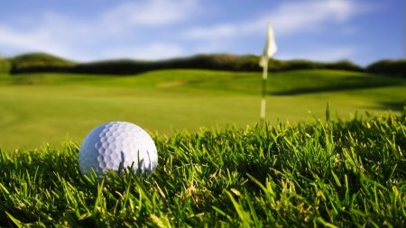 ball, golf, lawn