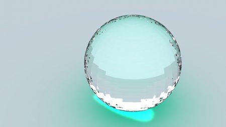 ball, huge, glass