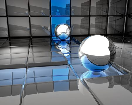 ball, metal, reflection