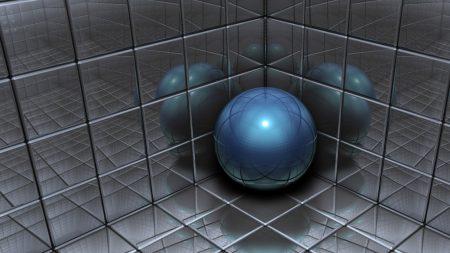 ball, space, metal