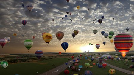 balloons, flight, landing