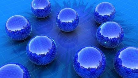 balls, blue, shape