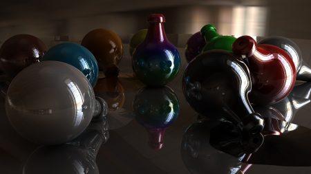 balls, color, shadow