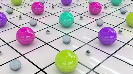balls, colored, surface
