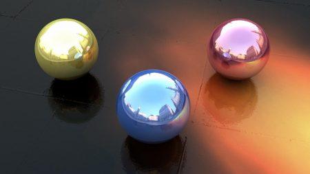 balls, form, reflection