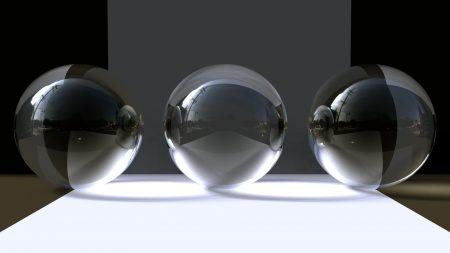 balls, glass, gray