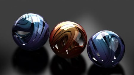 balls, glass, metal