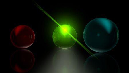 balls, glass, white