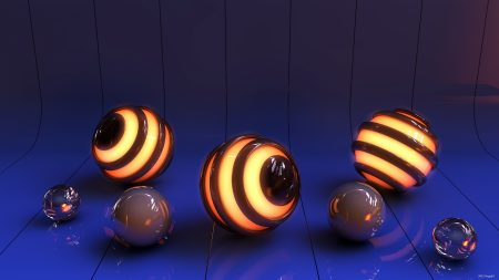 balls, light, surface