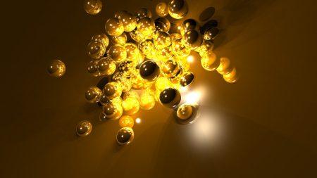 balls, light, surface