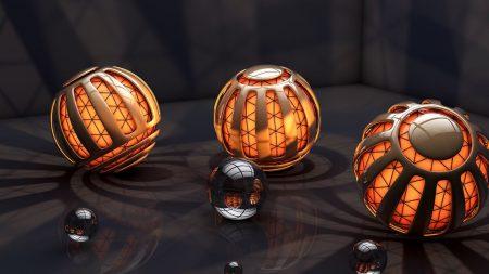 balls, lights, rendering