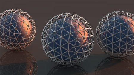 balls, mesh, surface