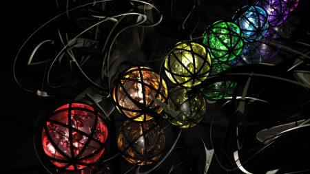 balls, multicolored, metal