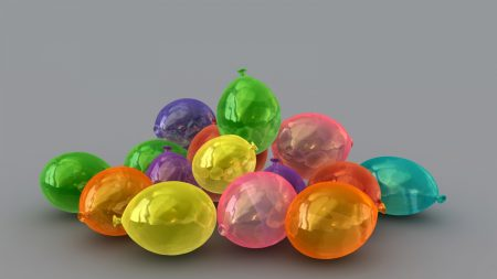 balls, ovals, colorful