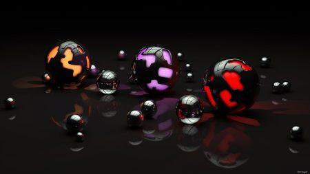 balls, shape, light