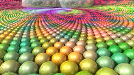 balls, surface, multi-colored