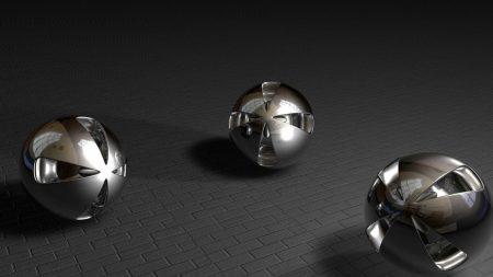 balls, three, shape
