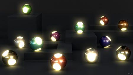 balls, variety, light