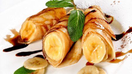banana, fritters, dessert