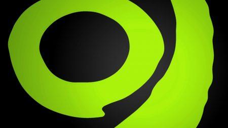 band, circle, green