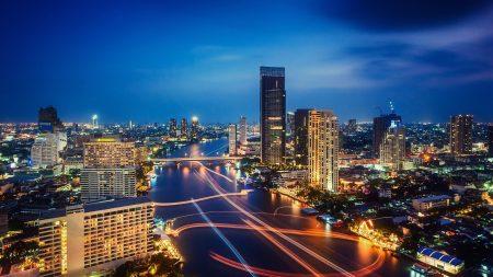 bangkok, thailand, night city