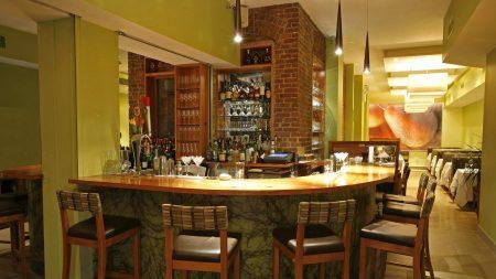 bar, counter, tables