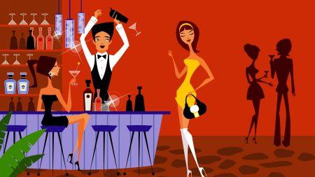 bar, disco, people