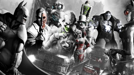 batman arkham city, characters, faces