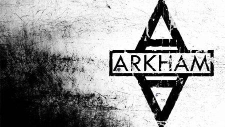batman arkham city, emblem, black and white