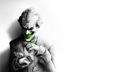 batman arkham city, joker, smile