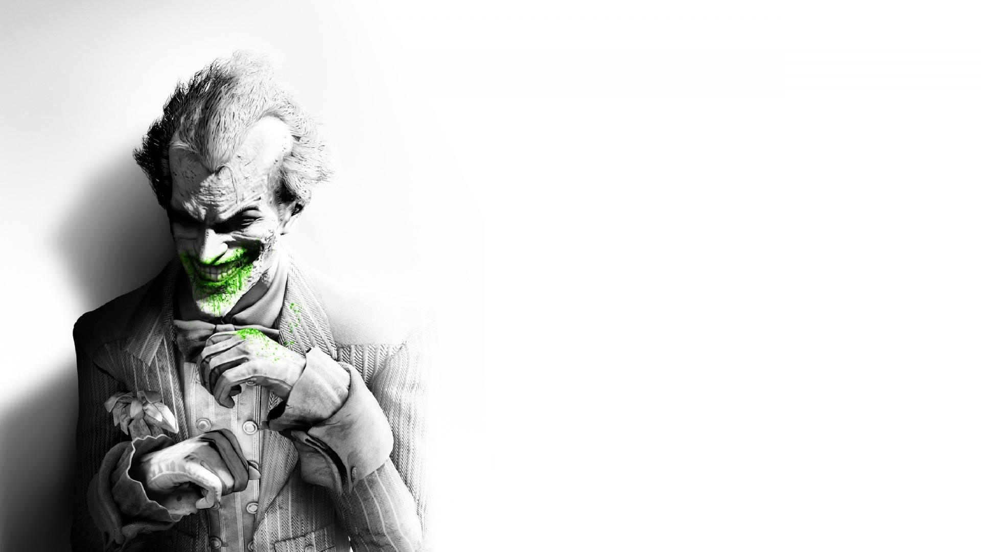 Download Wallpaper 1920x1080 Batman Arkham City Joker Smile