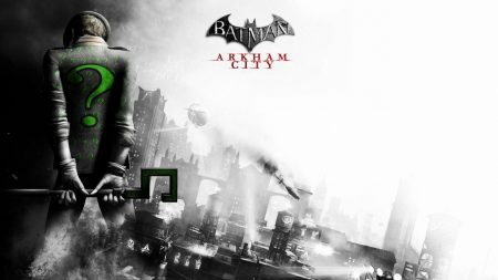 batman arkham city, riddler, back