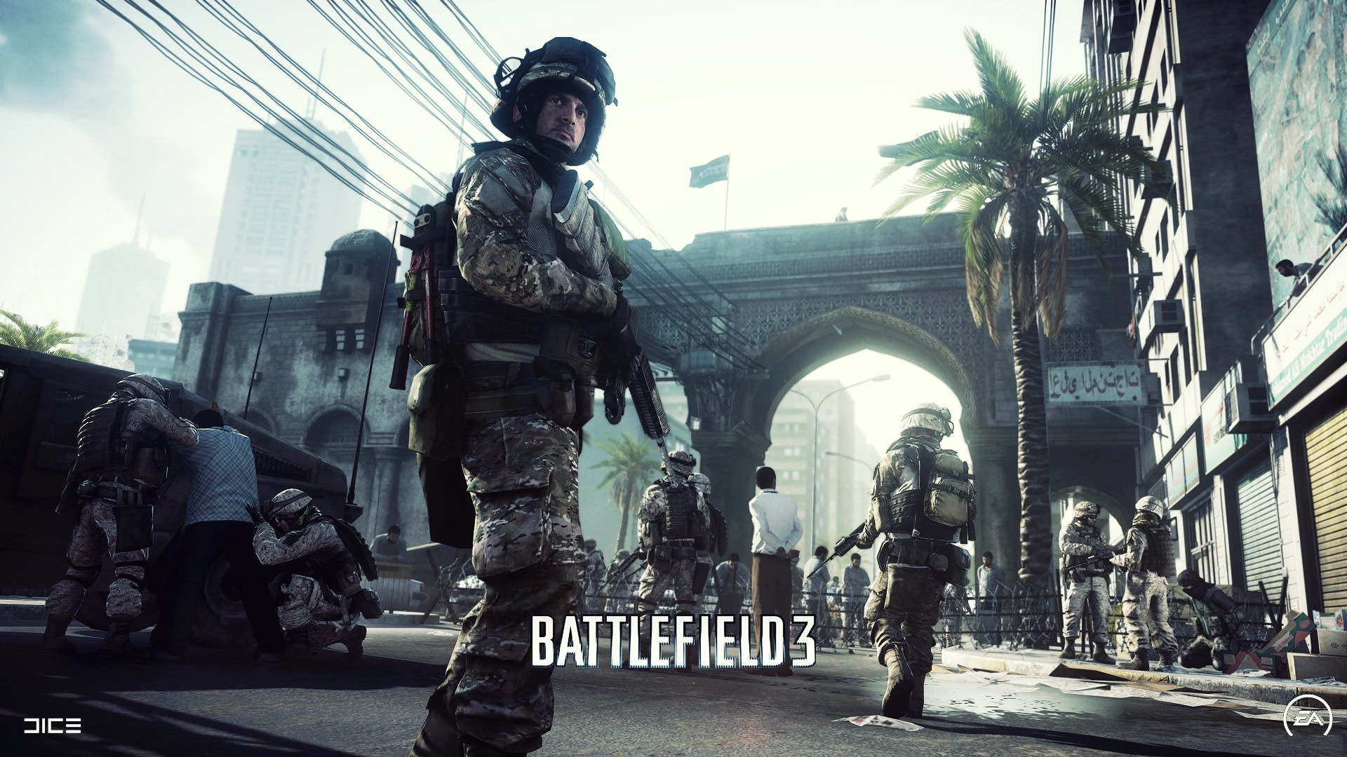 Download wallpaper 1920x1080 battlefield 3 soldiers city battlefield 3 soldiers city voltagebd Images