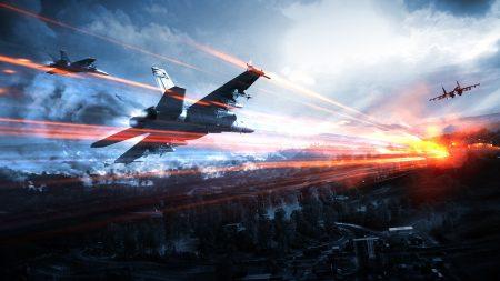 battlefield, airplanes, sky