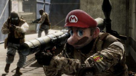 battlefield, soldier, mario